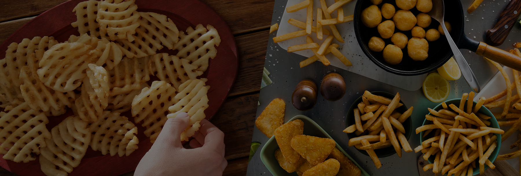 Mccain lattice fries and other potato products