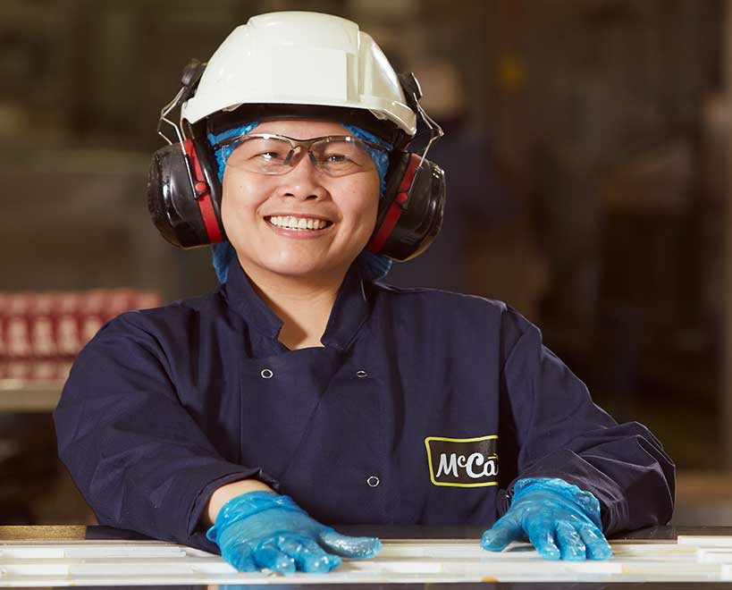 Mccain food gb employee in factory