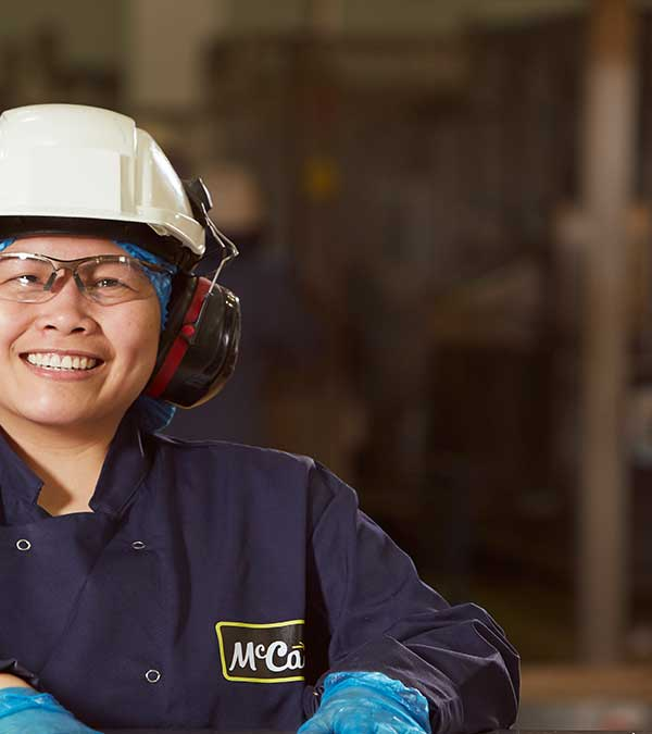 Mccain foods gb employee in factory