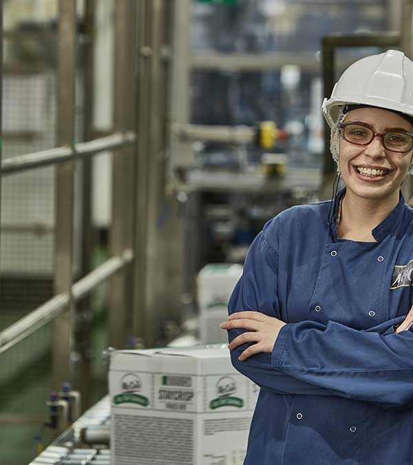 Mccain foods employee in factory